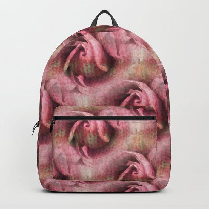 Knitted Rose Melting Ice Backpack