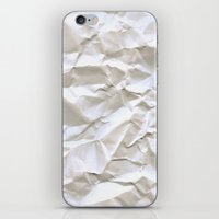 writer iPhone & iPod Skins featuring White Trash by pixel404