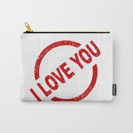 I Love You Stamp Carry-All Pouch
