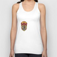african Tank Tops featuring African King by Sandyshow