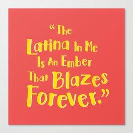 Latina Pride Canvas Print