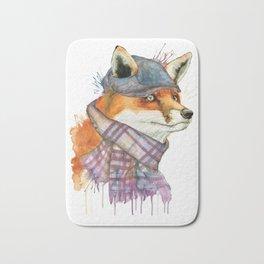 Fox in Hat Bath Mat