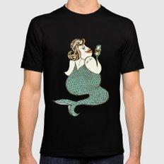 sel-fish mermaid Black MEDIUM Mens Fitted Tee
