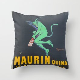 Vintage poster - Maurin Quina Throw Pillow