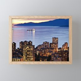 Voyeuristic 1535 Vancouver Cityscape English Bay Framed Mini Art Print