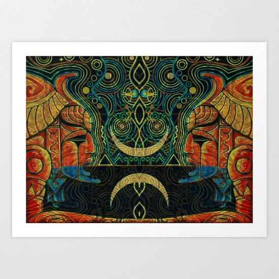 They Who Drink Chaos Art Print
