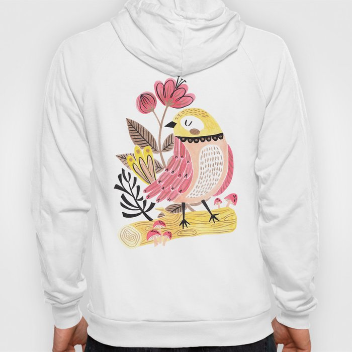 Little Birdy on a Log Hoody