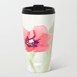 Pretty Pink Tulip Travel Mug