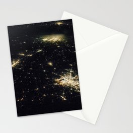 327. Nighttime Image of Texas Cities Stationery Cards