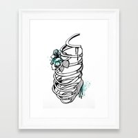 cage Framed Art Prints featuring Cage by Sarah Emily Chirichella