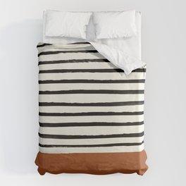 Burnt Orange x Stripes Bettbezug