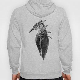 Kingfisher 1b.  White on black  background-(Red eyes series) Hoody