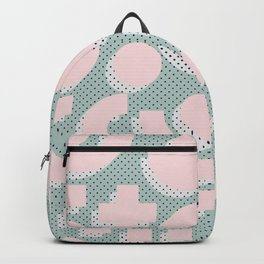 Memphis Pattern - Gemetrical  Retro Art in Pink and Mint -  Mix & Match With Simplicity Of Life Backpack