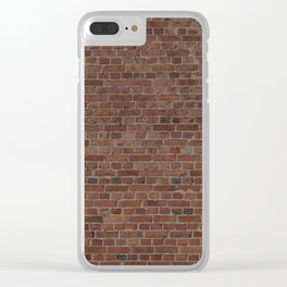 NYC Big Apple Manhattan City Brown Stone Brick Wall Clear iPhone Case