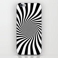 Swirl (Black/White) iPhone & iPod Skin