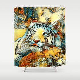 AnimalArt_Tiger_20170603_by_JAMColorsSpecial Shower Curtain