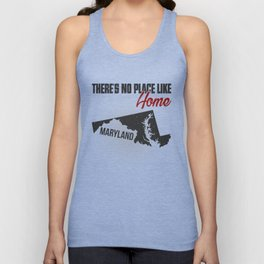 No place like home - Maryland Unisex Tank Top