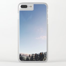 Sunset Stop Clear iPhone Case