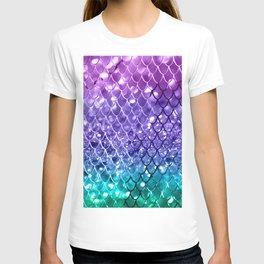 Mermaid Scales on Unicorn Girls Glitter #19 #shiny #decor #art #society6 T-shirt