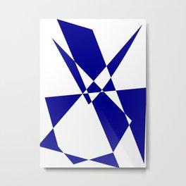 Cobalt Blue Geometric Construct Metal Print