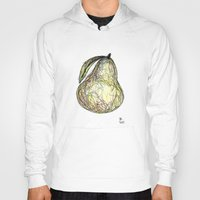 pear Hoodies featuring Pear by Ursula Rodgers