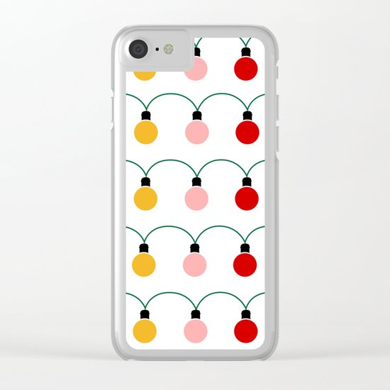 Christmas Light Clear iPhone Case