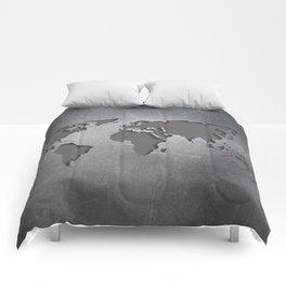 World Map Metal engraved Comforters