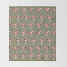 Flamingos Throw Blanket