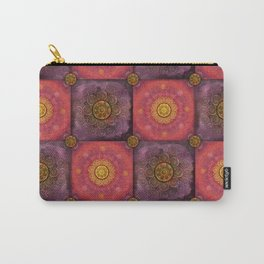"""Moroccan chess Strawberry & Purple Pattern"" Carry-All Pouch"