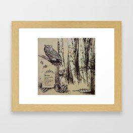 Persephone's Familiar Framed Art Print