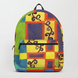 Underwater Impression in Rectangles Backpack