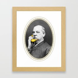 Grover Cleveland & Bananaphone Framed Art Print