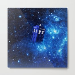 TARDIS SPACE OF TIME Metal Print