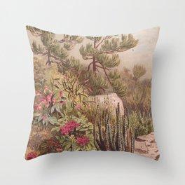 Euphorbiaceen - Cactus Throw Pillow