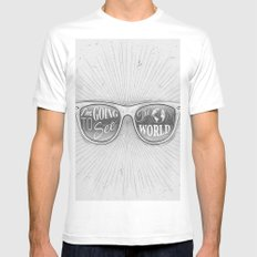 Going to see the world Mens Fitted Tee White MEDIUM