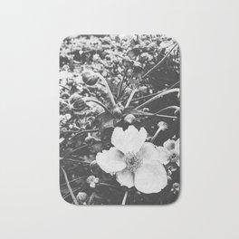 black and white floral Bath Mat