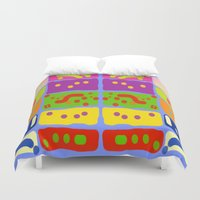 matisse Duvet Covers featuring Palettes of Matisse by Zoya Kraus