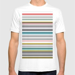 grey and colored stripes T-shirt