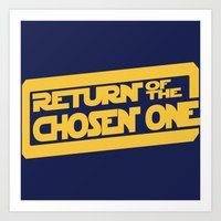 lebron Art Prints featuring Return of the Chosen One by JohnLucke