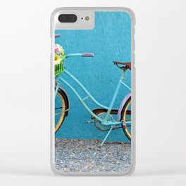 Antique Bicycle Clear iPhone Case