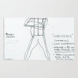 Confidence Drawing, Transitions through Triathlon Rug