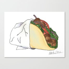 G is for Gyro Canvas Print