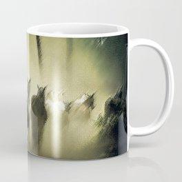 Wild Horses Night Ride Through New England Wilderness Landscape by Jeanpaul Ferro Coffee Mug