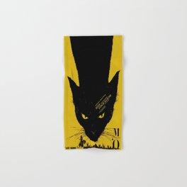 Vintage poster - Black Cat Hand & Bath Towel