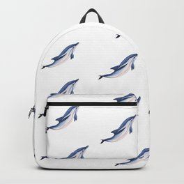Striped baby dolphin Backpack
