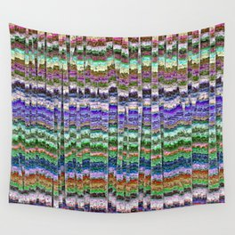 Textured Mosaic Layers Wall Tapestry