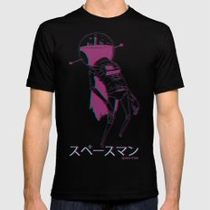 space man LARGE Mens Fitted Tee Black