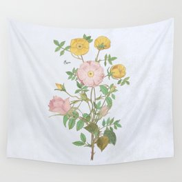 Roses in the pink Wall Tapestry