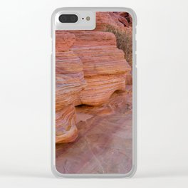 Colorful Sandstone, Valley of Fire - II Clear iPhone Case