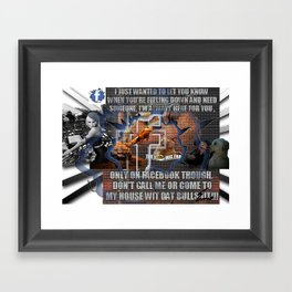 facebook golden rule Framed Art Print
